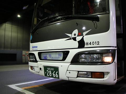 西鉄高速バス「桜島号」夜行便 4012 フロント部