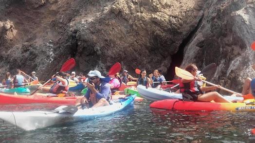 Ruta en kayak por Cabo de Gata.