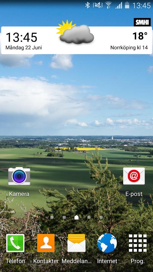 SMHI Väder- screenshot