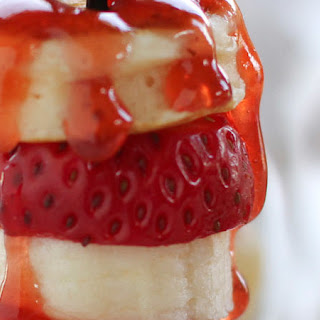 Strawberry Banana Pancake Kebabs.