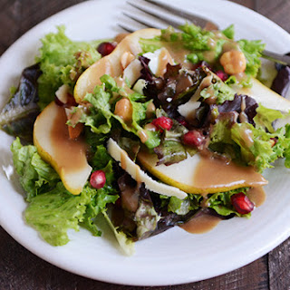 Autumn Pear Salad with Maple Balsamic Dressing