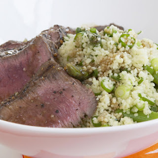 Grilled Lamb Loin with Roast Asparagus Couscous