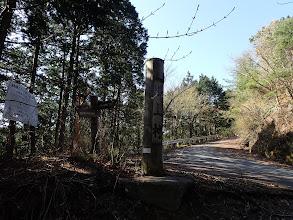 大峰の林道と合流