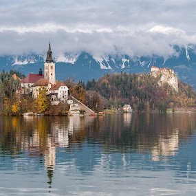 Bled, Slovenia by Andrej Kozelj - Landscapes Waterscapes ( water, landmark, europe, waterscape, beautiful, slovenia, lakes, bled, islands, lake, landscapes, landscape, island )