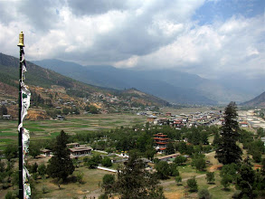 Photo: View of Paro town from Rinpung Dzong.