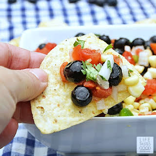 Red White and Blueberry Salsa.