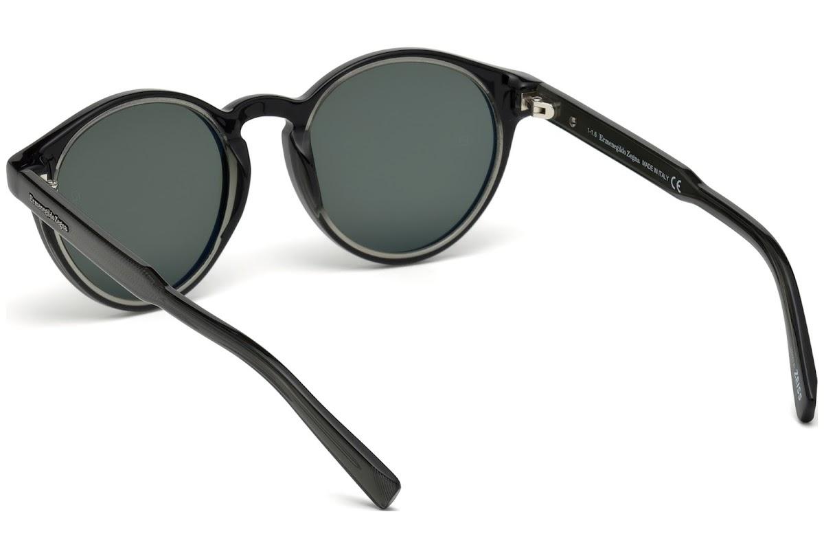 00b8d27bb7 Sunglasses Ermenegildo Zegna EZ0063 C50 05N (black other   green)