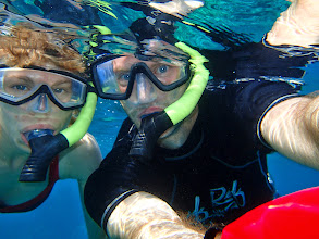 Photo: Us snorkelling at 'Two Step'.