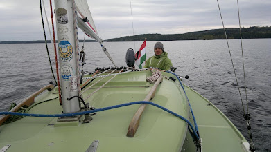 Photo: Zoltan on Day Skipper Course on his own H-boat Kermit.