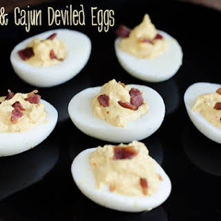 Bacon & Cajun Deviled Eggs.