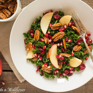 Kale Salad with Cranberries, Apples, and Candied Pecans Recipe
