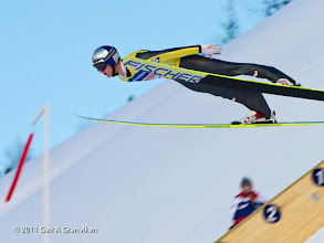 Photo: World Cup Ski flying Vikersund HS225 - Thomas Morgenstern, who secured the World Cup 2010-2011 victory in Vikersund