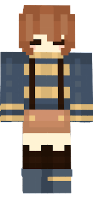 This is Frisk from Outertale, I didnt make the skin, all I did was make it a little bit more compatable for people using the Steve format - Alexzandro