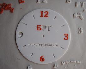 Photo: Производство часов из акрила. Акрил 2-х цветов: молочный и оранжевый. Лазерная резка