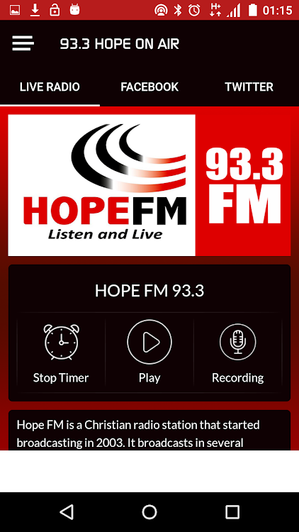 Hope Fm Jesus Is Lord Kenyan Christian Stations Android Apps Appagg