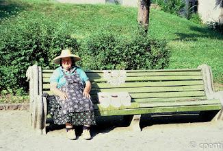 Photo: Sighisoara (Romania) - Vecchia signora con merletti / Old lady with lace
