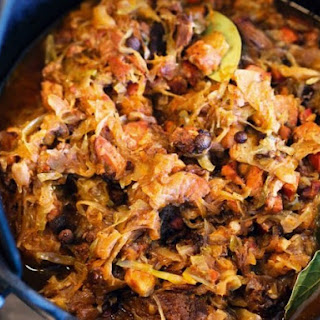 From a Polish Country House Kitchen's Hunter's Stew (Bigos).