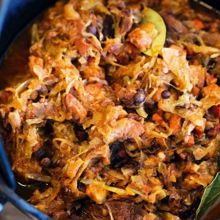 From a Polish Country House Kitchen's Hunter's Stew (Bigos)