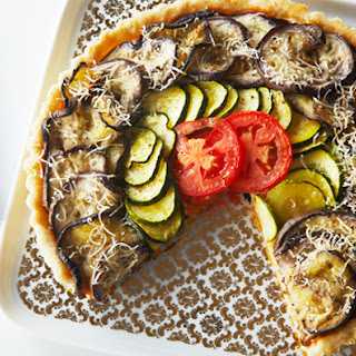 Eggplant and Zucchini Ratatouille Tart