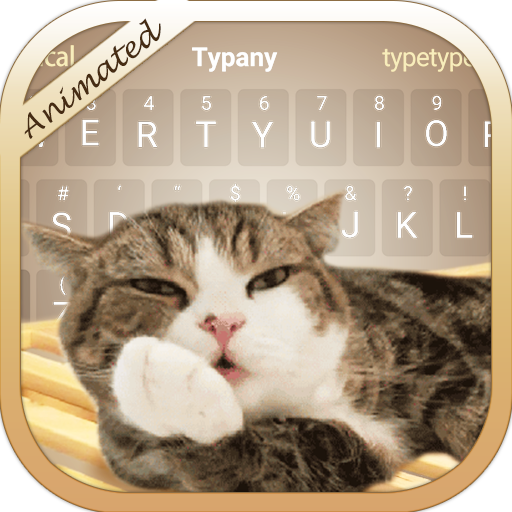 Cute Cat 3D Animated Theme&Emoji Keyboard