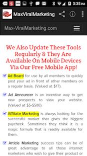 MaxViralmarketing – Get Traffic To Your Website for PC-Windows 7,8,10 and Mac apk screenshot 2