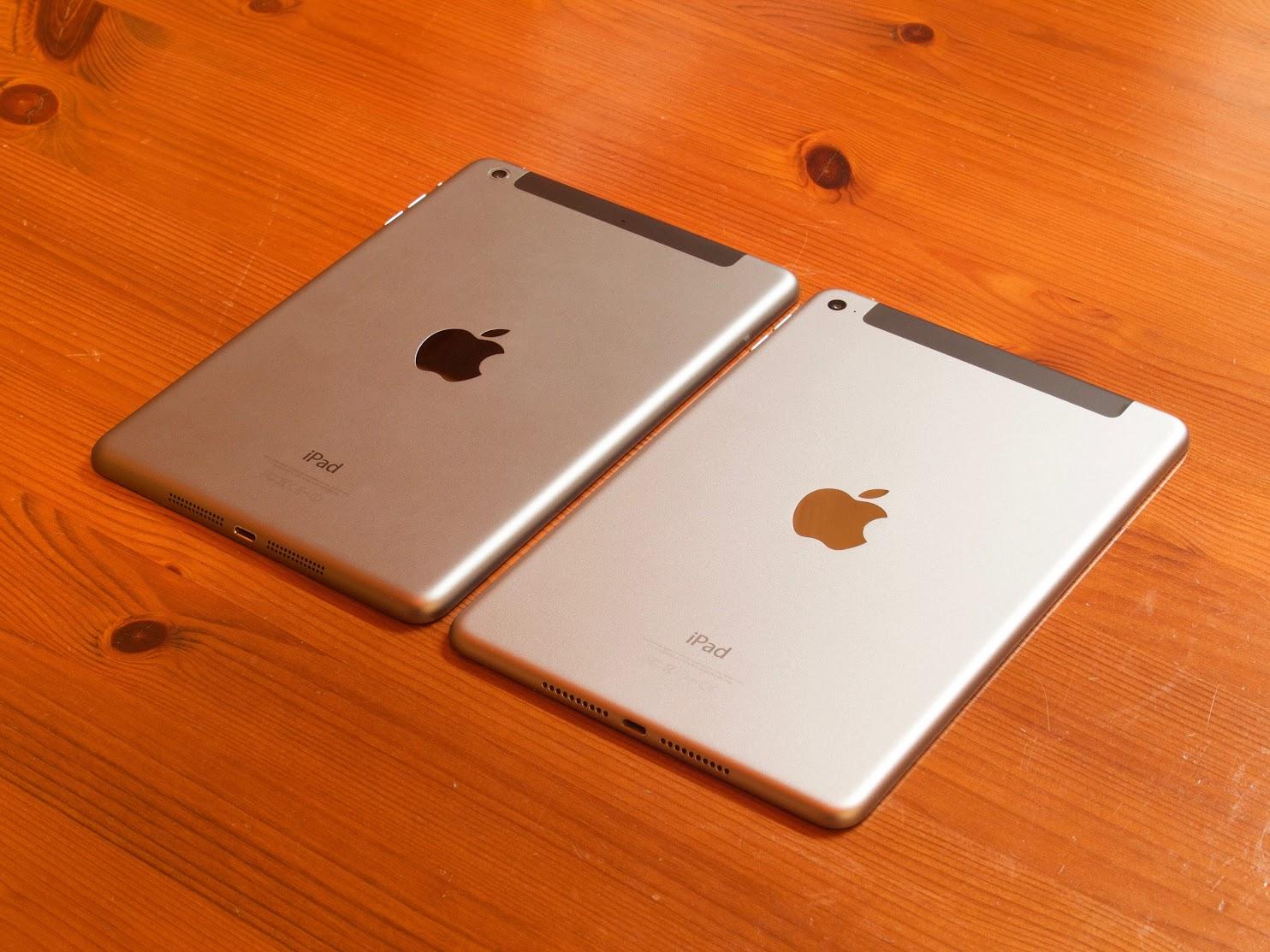 iPad mini 2 Wi-Fi + Cellular and iPad mini 4 Wi-Fi + Cellular