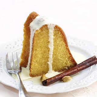 Semolina Cake with Spiced Honey Syrup.