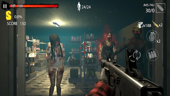 Zombie Hunter D-Day MOD APK 1.0.708 [Unlimited Money + No Ads] 2