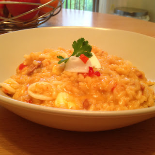Chorizo, Chilli and Squid Risotto