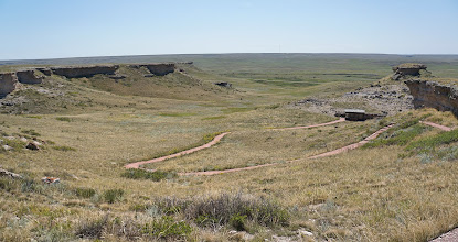 Photo: From the Deamonelix Trail's highest point, visitors can look out over not only James H. Cook's historic Agate Springs Ranch but also the vast, open tablelands that form the northern terminus of the High Plains east of the Rocky Mountains.