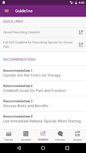 CDC Opioid Guideline- screenshot thumbnail