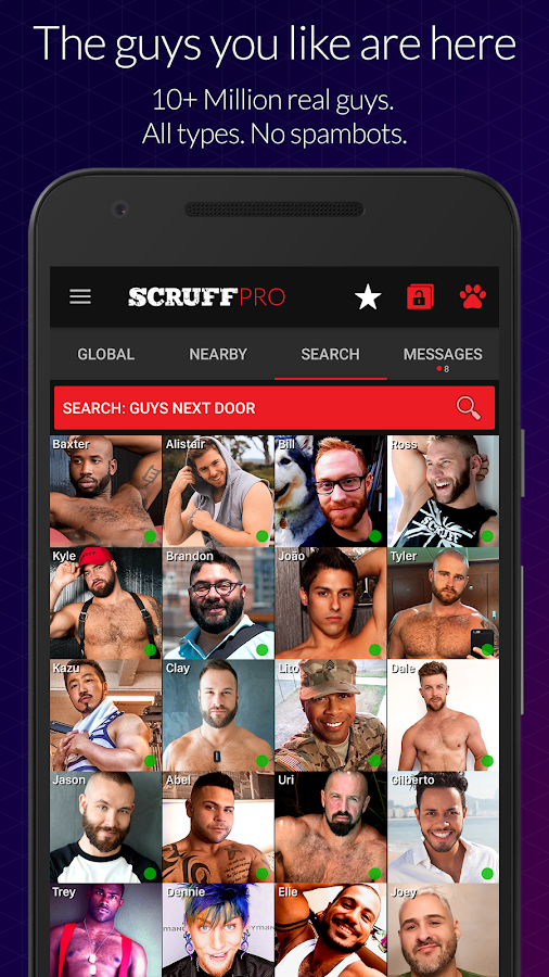 scruff gay app android