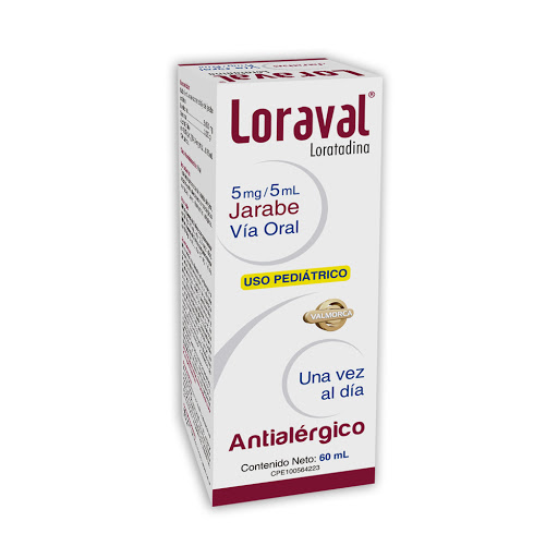 loratadina loraval 1mg/ml 60ml jarabe valmorca