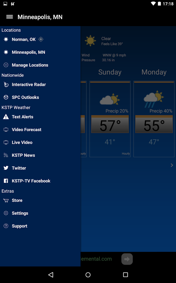 KSTP Weather Mpls-St.Paul- screenshot