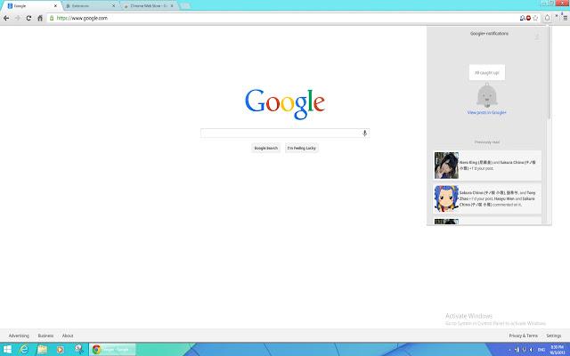 Notification Center for Google+