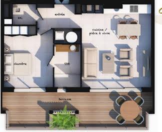 Appartement 2 pièces 55,66 m2