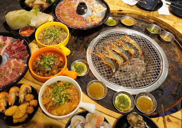 台南水道蝦 精緻燒肉還有酷聖石冰淇淋任你吃~尖叫精緻炭火燒肉 一開店就爆滿的最夯吃到飽!!