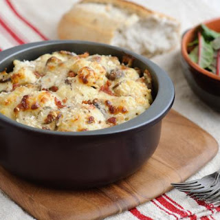 Perfect Cauliflower Cheese with Bacon and Mushrooms Recipe