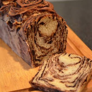 Japanese Chocolate Marble Bread.