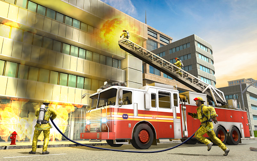 City Fire Fighter Airplane 911 Rescue Heroes  screenshots 4