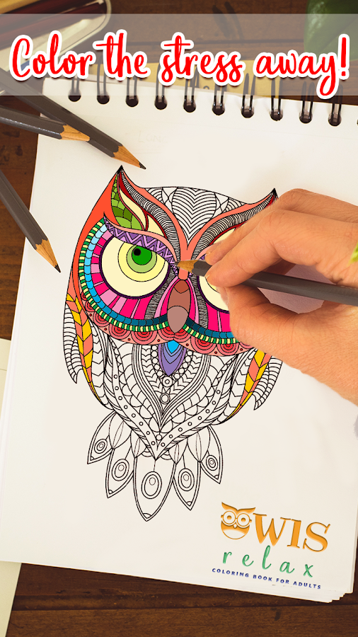 Owls Relax Coloring Book For Adults PRO Screenshot