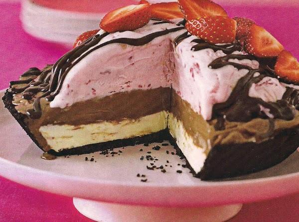 Ribbon Ice Cream Pie Recipe