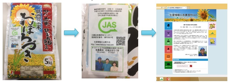 HP「生産情報公表農産物JAS|JAきたそらち 北竜支所」にアクセスス