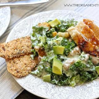 Kale Chicken Caesar Salad (with a Gluten Free Option!) Recipe