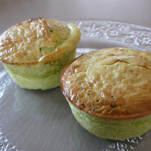 Peas and Ricotta Moelleux