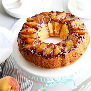 Amaretto Peach Upside-Down Bundt Cake