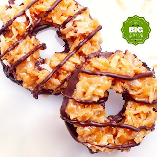 SAMOAS-STYLE GIRL SCOUT COOKIES.