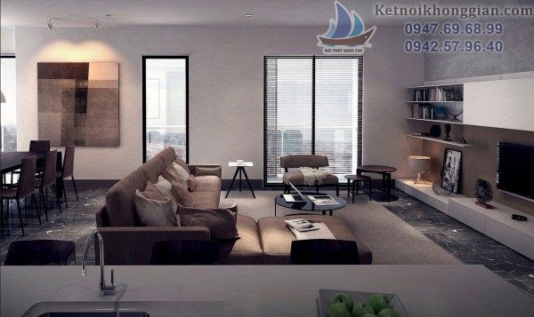 Thiết kế phòng khách phù hợp căn hộ chung cư