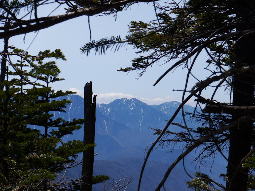 左から加加森山・池口山・鶏冠山など