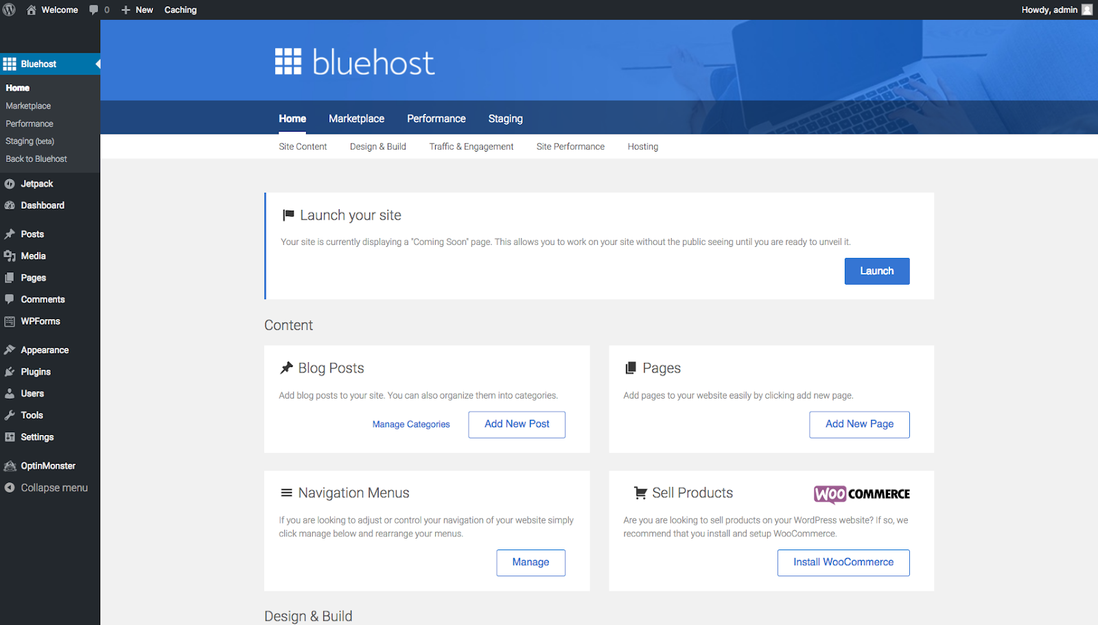 How To Start A Blog On BlueHost? BlueHost BackOffice